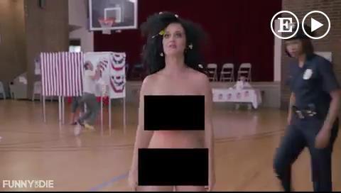 Katy Perry se desnuda para pedir a los estadounidenses que voten
