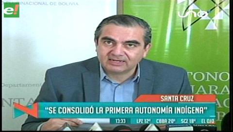 Ministro Siles: Se consolidó la primera autonomía indígena en Charagua