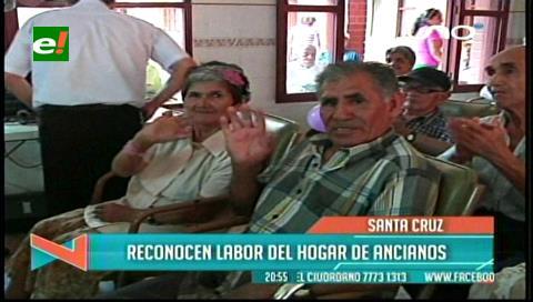 Asamblea departamental reconoce aporte del hogar de Ancianos Santa Cruz