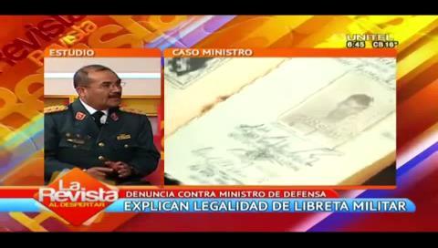 División Territorial Militar defiende legalidad de la libreta de servicio militar de Ferreira