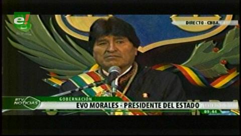 Evo anuncia que Cochabamba será sede de importantes eventos internacionales y se disculpa por retirarse de actos