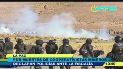 Policías declaran por la muerte de cooperativistas mineros