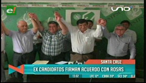 Saúl Rosas suma apoyo con miras a la segunda vuelta en la Uagrm