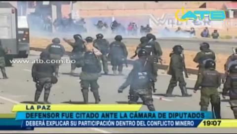 Defensor del Pueblo brindará informe sobre conflicto minero