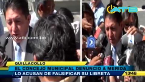 Alcalde de Quillacollo denuncia persecución política