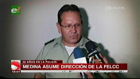 Coronel Gonzalo Medina asumirá como nuevo director de la Felcc de Santa Cruz