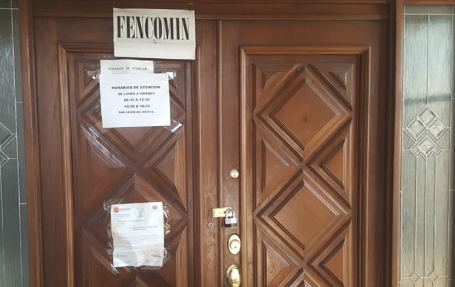 Oficinas de Fencomin permanecen cerradas a más de un mes de su intervención
