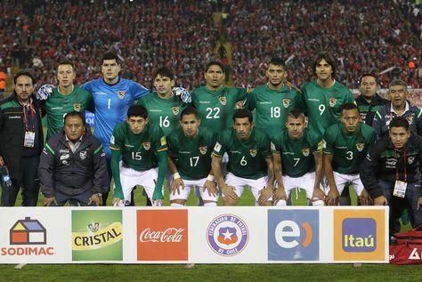 La selección de Bolivia antes del partido contra Chile, el 6 de septiembre de 2016.