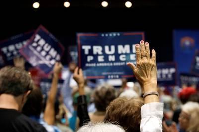 Seguidores de Trump durante el acto en Reno, Nevada. (AP)