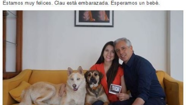 """García Linera: """"Claudia está embarazada, esperamos un bebé"""""""