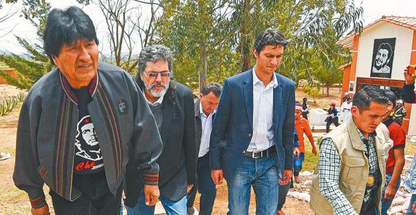 Evo, durante la apertura del centro cultural Che Guevara en Vallegrande