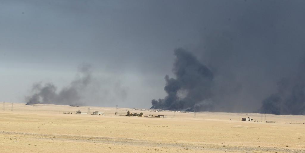 El frente de batalla se encuentra al este de Mosul y a 30 kilómetros de la ciudad (AFP)