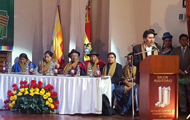 Cocarico habla de coimas, de estigma de corrupción en el INRA y de tráfico de tierras