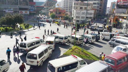 Bloqueo de transportistas el 13 de junio pasado