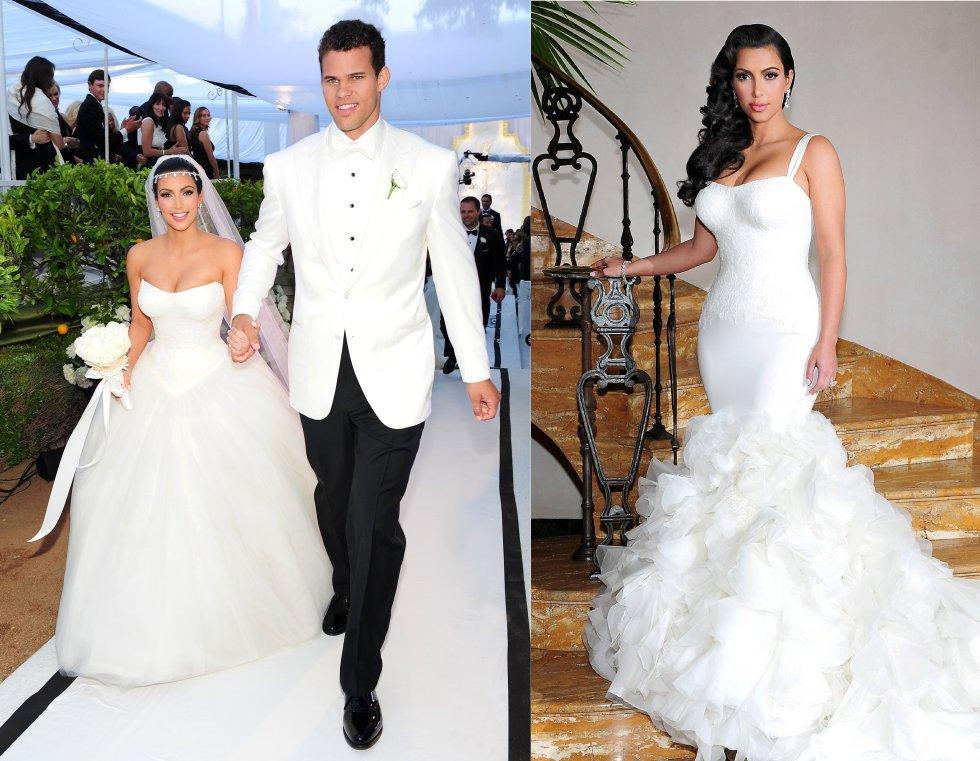 Kim Kardashian se casó en 2011 con el jugador de la NBA, Kris Humphries, después de 10 meses de noviazgo. 72 días después, el 31 de octubre de 2011, ella solicitó el divorcio alegando diferencias irreconciliables. La boda fue todo un espectáculo difundido en su