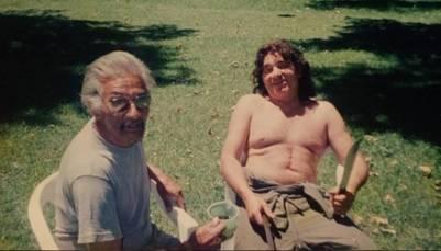 Pappo con Pepe, el casero (Instagram yonibert67)