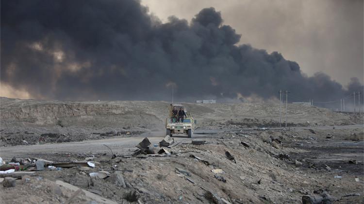Un vehículo militar iraquí durante una operación contra el Estado Islámico en Mosul, el 22 de octubre de 2016.