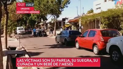 El trágico episodio ocurrió en el barrio Trapiche de Godoy Cruz, en Mendoza. (Captura TN)