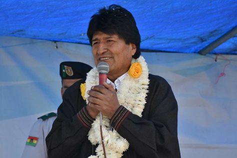 El presidente Evo Morales en el municipio de Arani - Cochabamba.