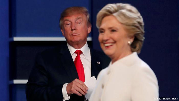 Los candidatos presidenciales Donald Trump y Hillary Clinton.