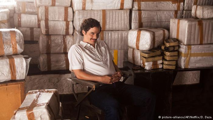 Netflix Show Narcos Hauptdarsteller Wagner Moura (picture-alliance/AP/Netflix/D. Daza)