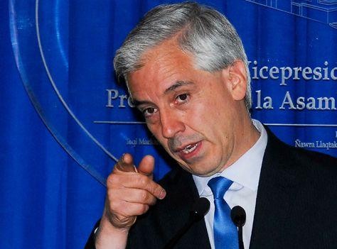 El vicepresidente Álvaro García Linera en una fotografía de archivo.
