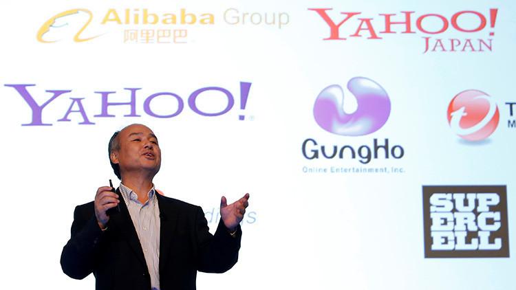 El director general de SoftBank, Masayoshi Son, detalla las ganancias de la compañía dua¡rante una conferencia celebrada en Tokio, Japón, 28 de julio de 2016