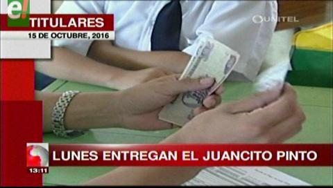 Titulares de TV: Lunes entregarán bono Juancito Pinto