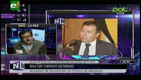 Rector de la UMSA y Fiscal de Distrito ratifican denuncia contra Walter Torrico