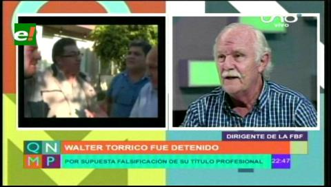 Lo sucedido con Walter Torrico es algo personal y no de la FBF