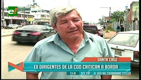 Ex dirigentes de la COD critican accionar político de Rolando Borda