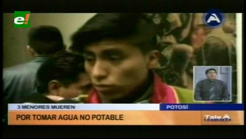 Potosí: Tres niños mueren por tomar agua no potable