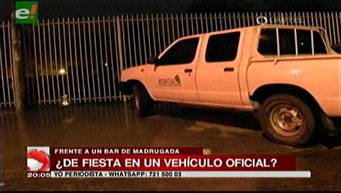 Emacruz investiga causas por las que uno de sus vehículos estaba en un local