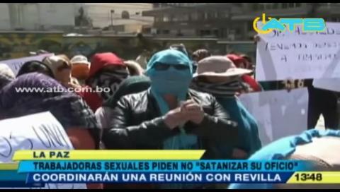 La Paz: Trabajadoras sexuales protestan exigiendo respeto a su trabajo