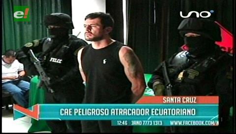 Presentado por la Policía: Cae peligroso atracador ecuatoriano