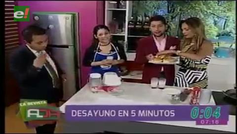 Bolivisión. Fabiola Chávez se disculpa con la chef Laura León y le regala una bolsa de orégano