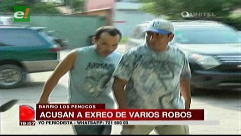 Vecinos capturan a ex reo, autor de robos en domicilios