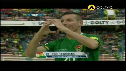 Escobar abre el marcador: Bolivia 1-0 Ecuador