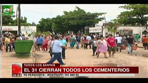 """Plan """"Todos Santos"""": Continúa la limpieza y refacción de nichos hasta el 31 de octubre"""