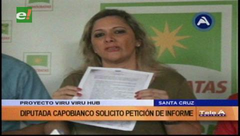 Proyecto Viru Viru HUB: Diputada Capobianco solicitará una petición de informe
