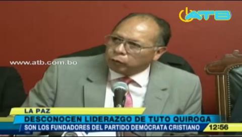 Directiva de PDC desconoce liderazgo de Tuto Quiroga