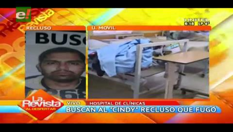 """La Paz: Buscan al """"Cindy"""", reo que escapó del Hospital de Clínicas"""