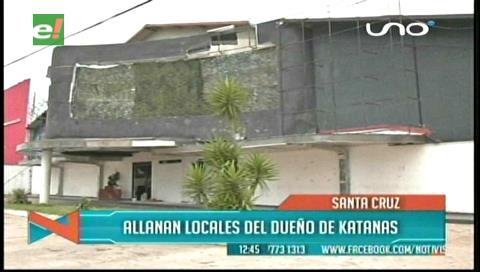 Caso Katanas: Fiscalía allana dos locales nocturnos en Santa Cruz