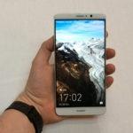Panltalla encendida del Huawei Mate 9
