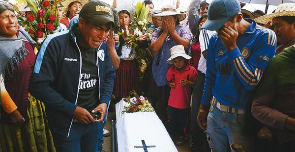 Familiares de Javier Canchi marcharon para pedir que se haga justicia