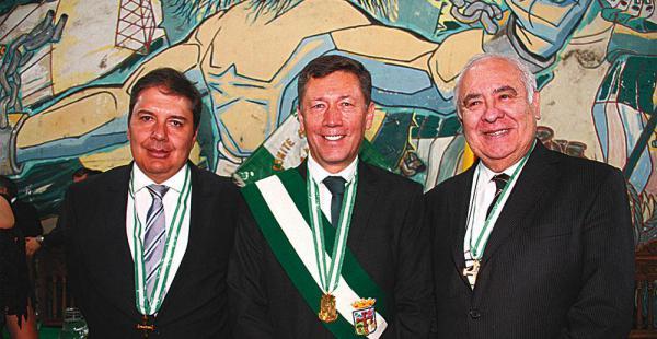 José Enrique Vicente, Róger Montenegro y Carmelo Paz Durán