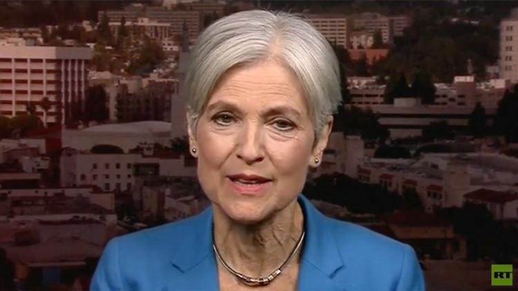 La candidata presidencial por el Partido Verde, Jill Stein.