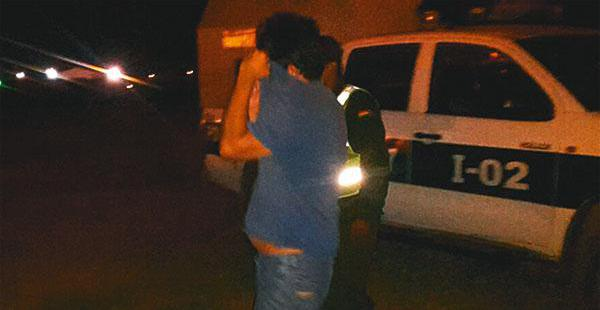 El momento en que fue detenido Jaime H. V. G. por la Policía