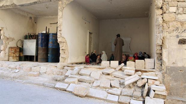Clases de Corán en Aleppo, la ciudad sitiada por rusos y sirios