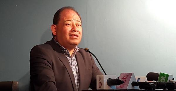 El ministro de Gobierno, Carlos Romero, durante la conferencia de prensa en La Paz